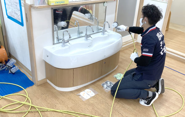 洗面での感染症対策